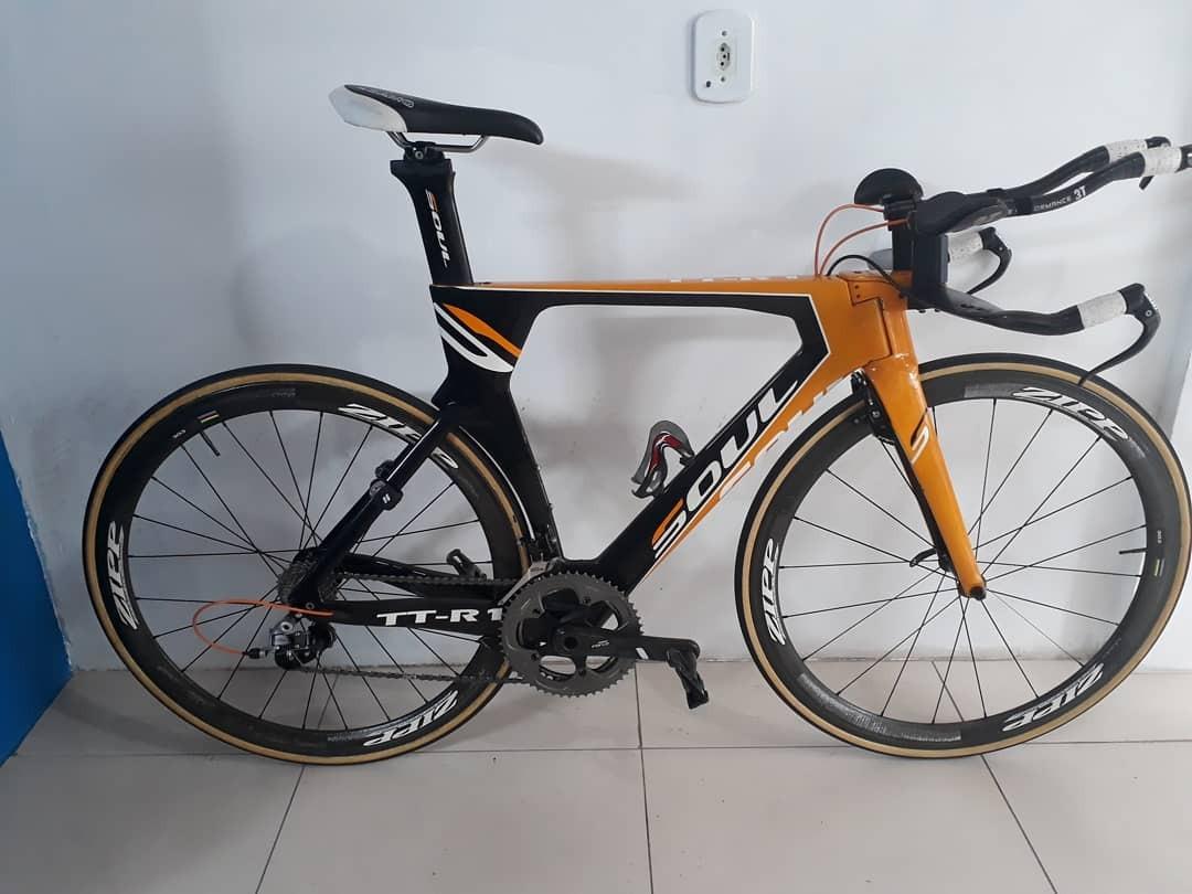 25eec52e103 Bicicleta Contra Relogio Soul Tt-r1 Rodas Zipp