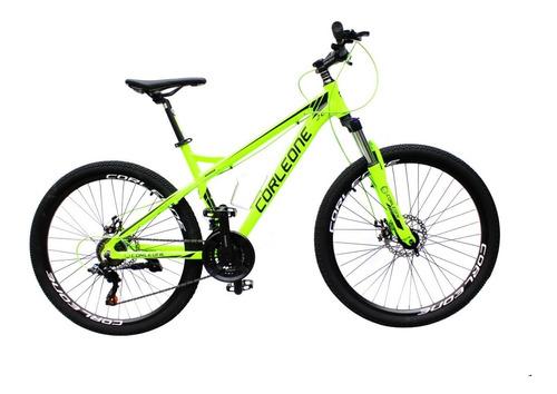 bicicleta corleone rin 26 marco aluminio grupo shimano 21vel