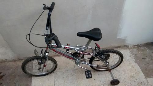 bicicleta cromada r14