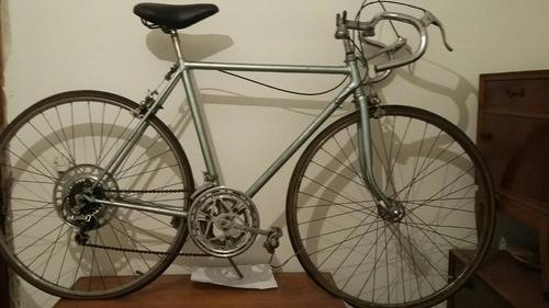 bicicleta, cuadro empipado, componentes japón, horquilla con
