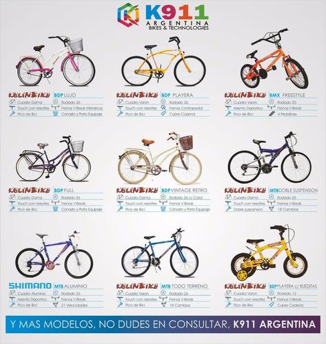 bicicleta dama paseo lujo kelinbike r.26 20% off! celeste