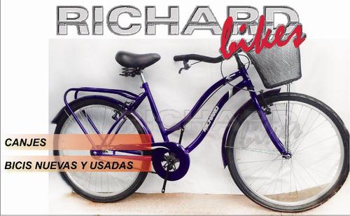 bicicleta dama playera full rodado 26 // richard bikes