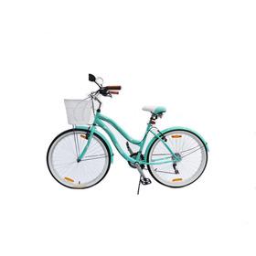 Bicicleta Dama Verado Playera Canasto Luz Cambios Shimano