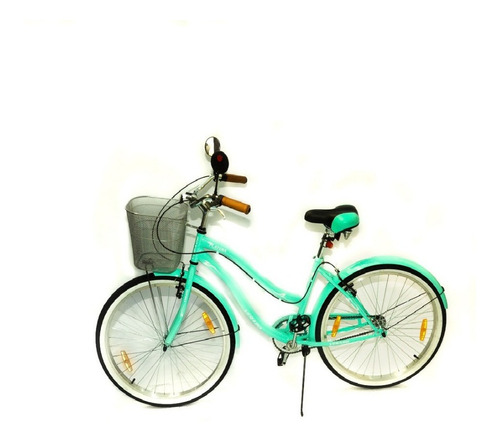 bicicleta dama verado playera canasto luz guardabarro r 26