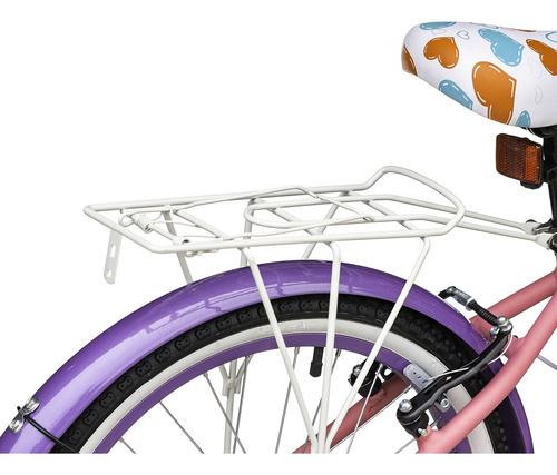 bicicleta de aluminio best de niña adore 20  rosado