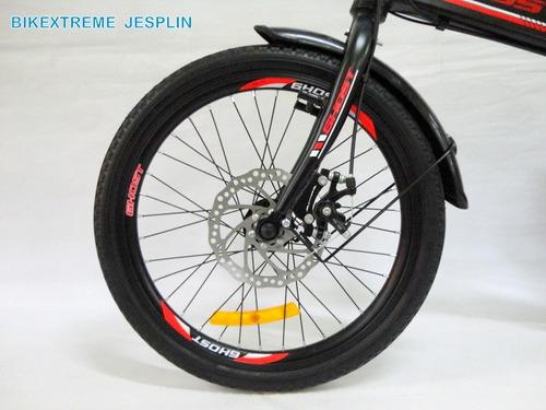 bicicleta de aluminio ghost plegable n-rojo ¡nuevas!