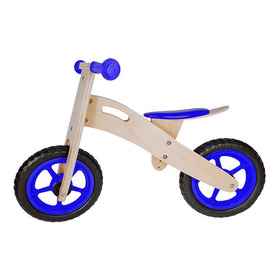 Bicicleta De Aprendizaje Infantil De Madera Azul