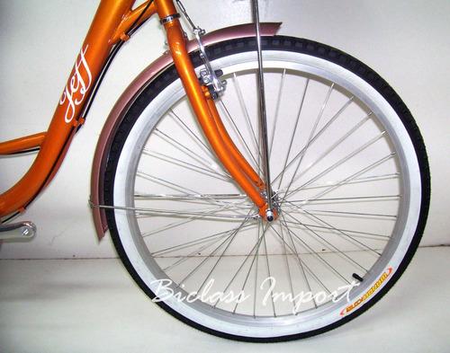 bicicleta de dama vintage cambios shimano canasta parrilla