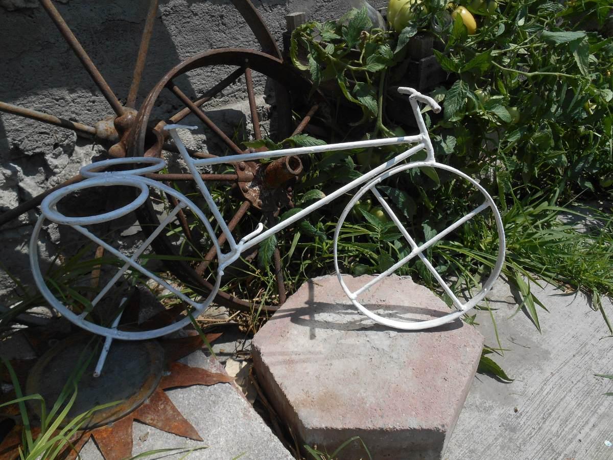 Bicicleta de fierro macetero vintage en mercado libre - Bicicleta macetero ...