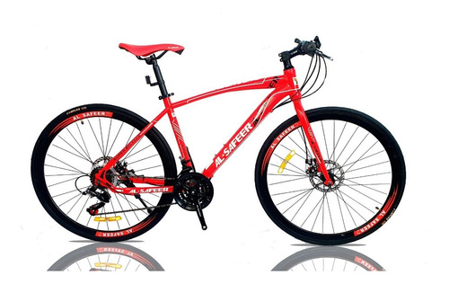 bicicleta de hombre híbrida freno de disco