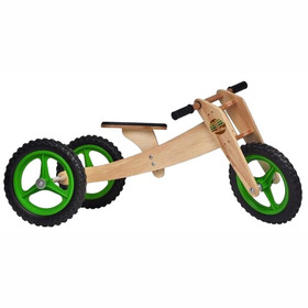 Bicicleta De Madeira Woodbike - 3 Estágios - Woodline - Verd