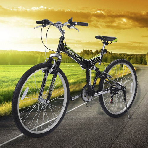 bicicleta de montaña plegable 6 velocidades 0504
