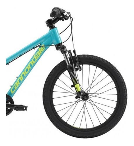 bicicleta de niña cannondale trail aro 20 turq // bamo