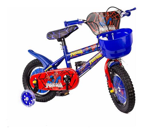 bicicleta de niño de spiderman rin 12 cod. 100#