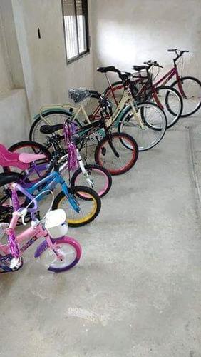bicicleta de paseo flex rodado 26 asiento resortes y canasto