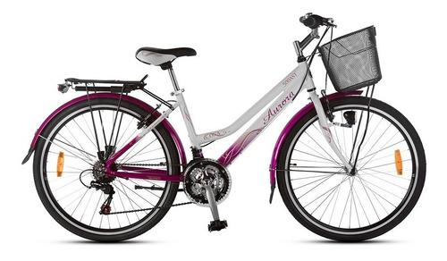 bicicleta de paseo niña aurora ona 24 con cambios aluminio