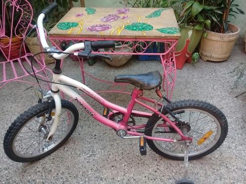 bicicleta de paseo rodado 16 con rueditas