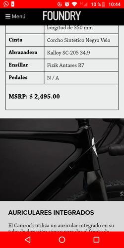 bicicleta de ruta foundry fibra de carbón