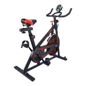 Bicicleta De Spinning Con Sensores Roja Y Negra LG