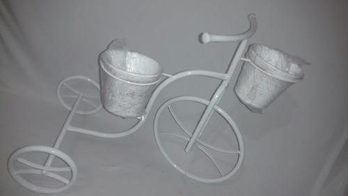 bicicleta decorativa para jardim - com suportes