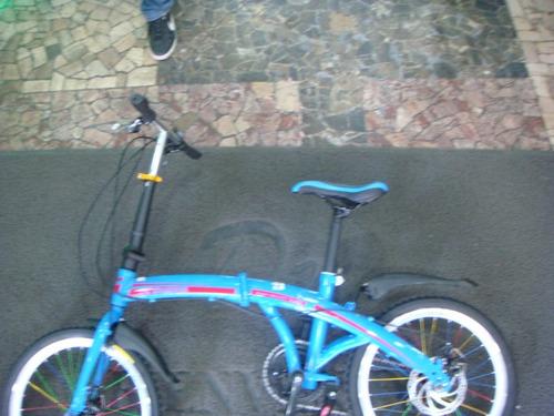 bicicleta desarmable plegable aro 20 freno disco
