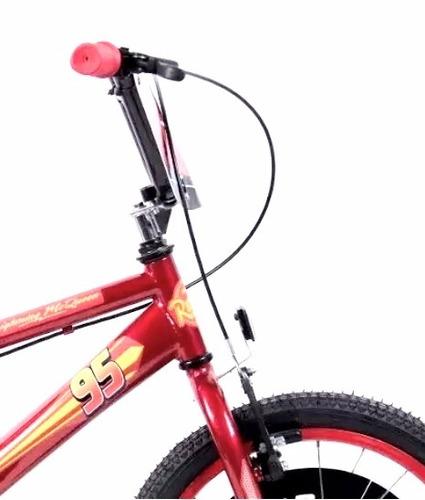 bicicleta disney cars lightning mcqueen r16