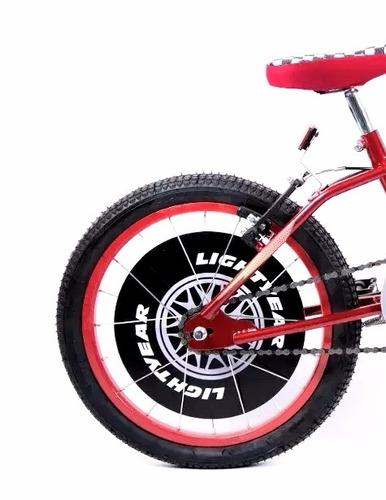 bicicleta disney cars lightning mcqueen r16 envío gratis
