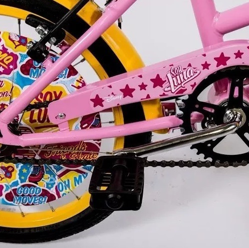 bicicleta disney soy luna rodado 16 nena c/accesorios