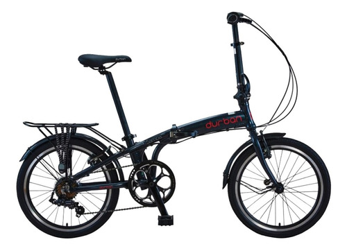 bicicleta dobrável 6 marchas aro 20 bike durban sampa pro