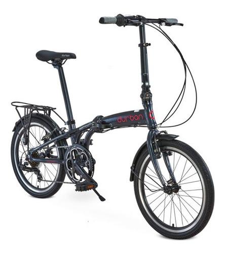 bicicleta dobrável aro 20 carbono 13kgs durban sp pro azul
