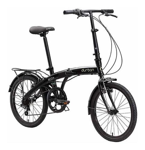bicicleta dobrável aro 20 eco+ preto durban com 6 marchas