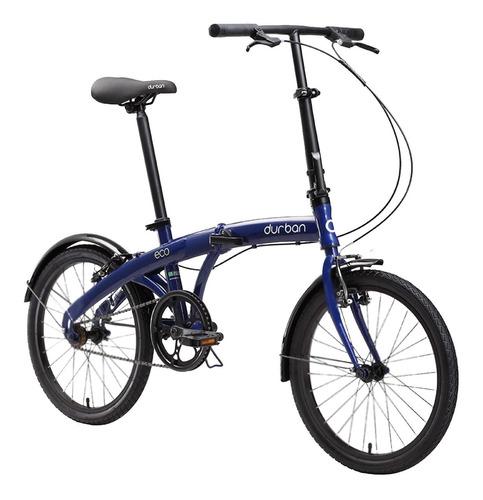 bicicleta dobrável bike aro 20 durban eco 1 marcha azul