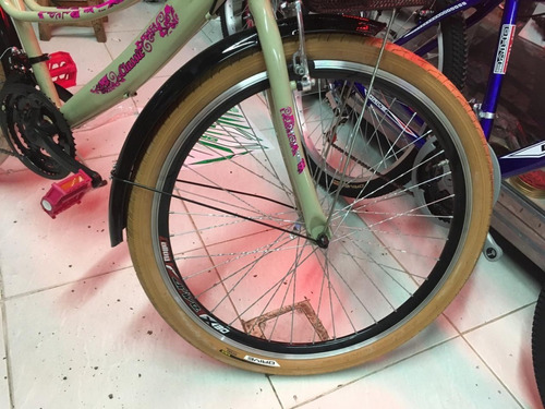 bicicleta drive mujer playera rin 26 barra caida con canasta