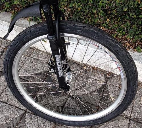 bicicleta dupla alumínio aro 26 com efeito martelado 21 vel.