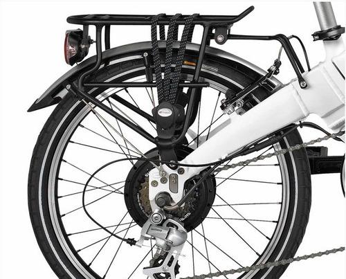 bicicleta electrica blanca motor integrado 65km lcd emotion