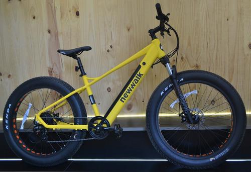 bicicleta electrica fatbike amarillo mate 40km de autonomia