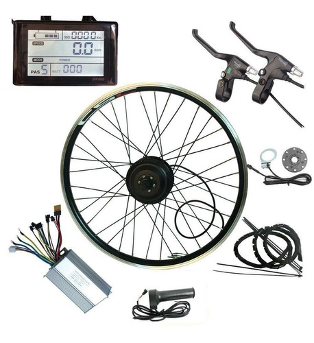 bicicleta electrica kit de conversion 500 watts engranado