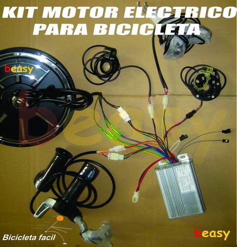 bicicleta electrica kit motor con frenos regenerativos 350w