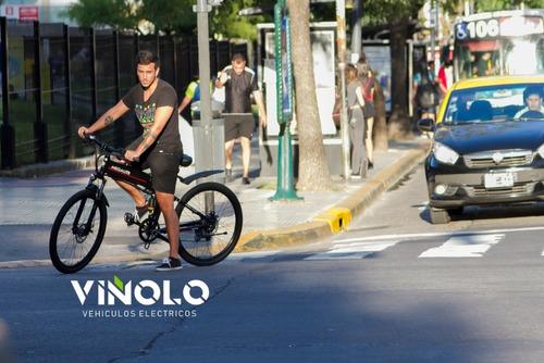 bicicleta eléctrica megalite 2650  litio extraíble viñolo /a