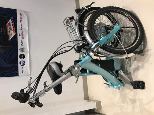bicicleta eléctrica plegable 40km autonomia