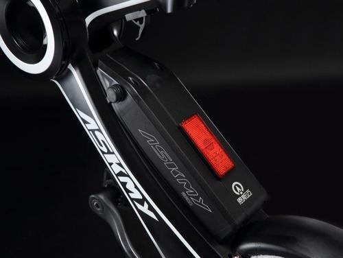 bicicleta electrica plegable askmy x3 bat litio de 40km  / a