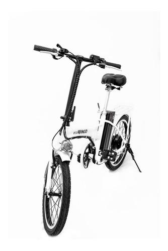 bicicleta eléctrica plegable winco r-20 motor 250w + envío