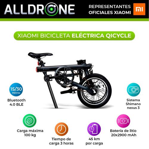 bicicleta electrica plegable xiaomi qicycle samsung 45 km