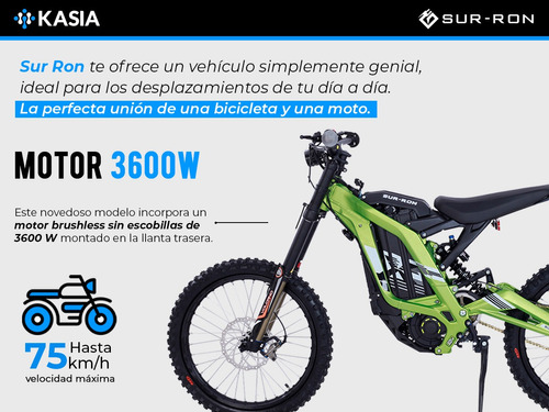 bicicleta electrica surron light bee x motocicleta cross