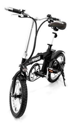 bicicleta eléctrica winco plegable motor 220w 25km/h + envío