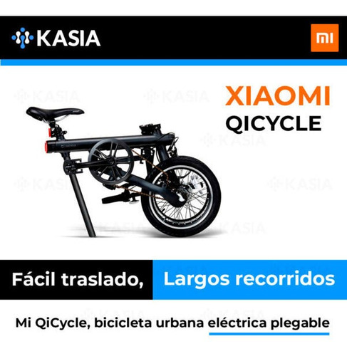 bicicleta electrica xiaomi qicycle ef1 luces frontal