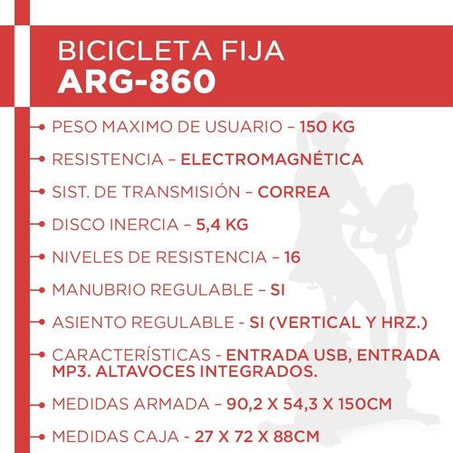 bicicleta electro magnetica arg860 randers