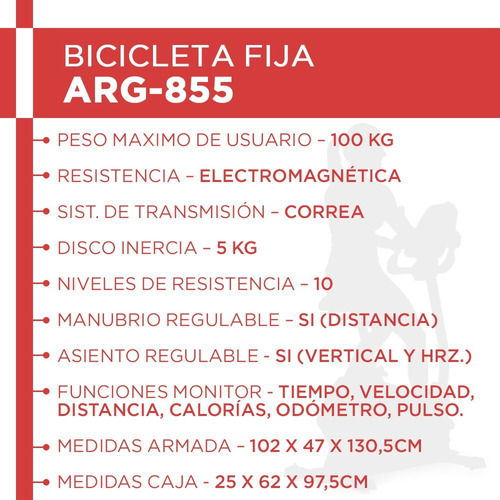 bicicleta electromagnética randers arg855 cuotas sin interés
