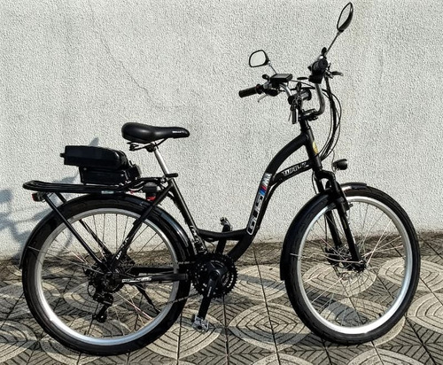 bicicleta elétrica modelo walk 350 watts 36 v lithium 13.6ah