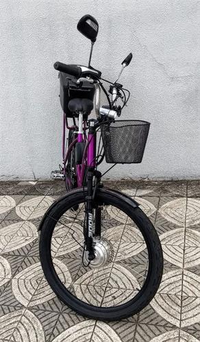 bicicleta elétrica schilder wb 250 watts 36 v lithium c/ baú